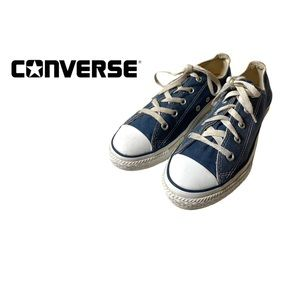 Converse Youth Navy Blue Low Top Sneakers